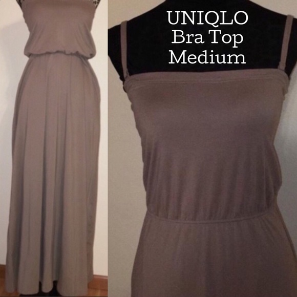 4e3d0dd081 UNIQLO - BNWT - Taupe - Medium - padded bra dress